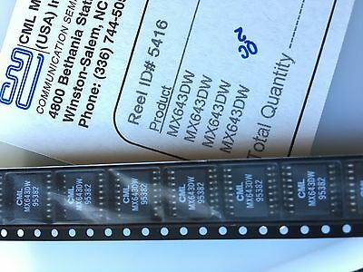 Lot 1200pcs MX643DW SOP16, Call progress tone detector CML Microcircuit / MX-COM
