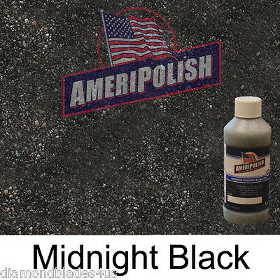 1 GL. Midnight Black CONCRETE COLOR DYE 4 CEMENT STAIN AMERIPOLISH Solvent based