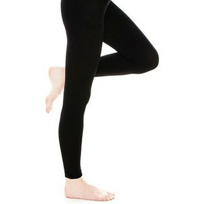 24c8b2929d3f0 NEW Mixit Designer Fleece-Lined Black Footless Tights Size S/M Free Shipping