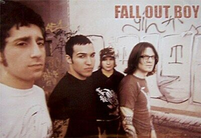 FALL OUT BOY POSTER Graffiti Group Shot HOT NEW 24x36