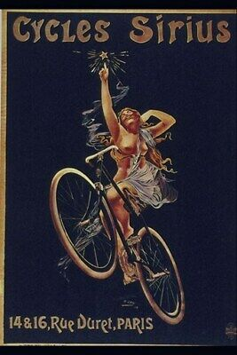 BICYCLE VINTAGE POSTER French Ad - RARE NEW ART PRINT