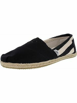 Toms Women's Classic Striped Canvas Ankle-High Canvas Flat Shoe
