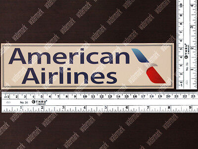 RECTANGULAR NEW AMERICAN AIRLINES AA DIECUT LOGO DECAL / STICKER 8x2in / 20x5cm
