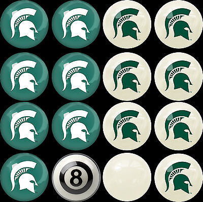 Imperial NCAA Home Vs. Away Billiard Ball Set Michigan State