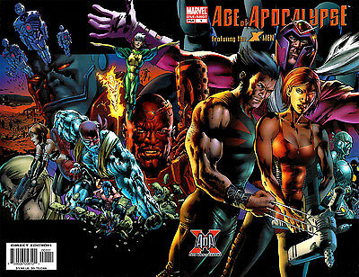 X-MEN AGE OF APOCALYPSE #1 One-Shot, Wolverine WRAP COVER Nice! NM New (2005)