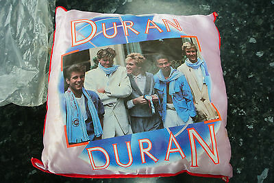 Vintage Retro 1980s Duran Duran Silk Pillow