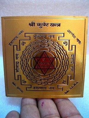 Kuber Kubera Yantra With  Stand - For God Of Wealth & Prosperity