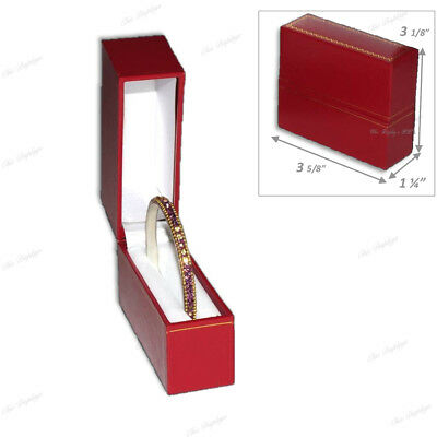 Standing Bangle Jewelry Box Bracelet Box Gift Box Showcase Display Red Box Deal!