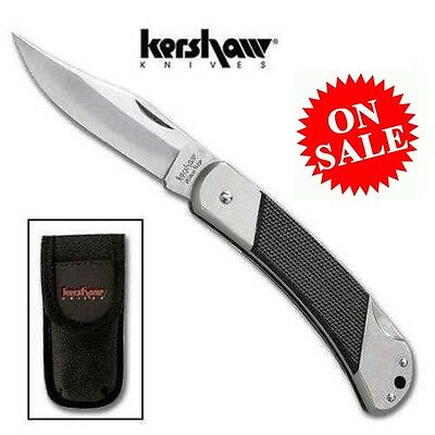 "Kershaw Wildcat Ridge LARGE 4-7/8"" Lock Back Knife ABS Handle Nylon Sheath"