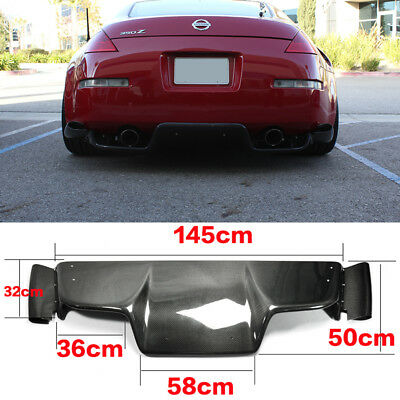 Carbon Rear Under Diffuser JDM TS For 03-08 Z33 350z Infiniti G35 Coupe 2 Door