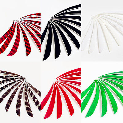 100 pcs 5'' Natural Left Wing Parabolic Turkey Feather For Archery Arrow Feather