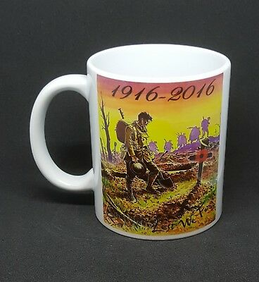 Somme 1916-2016 Battle of the Somme commemoration mug Lest we Forget