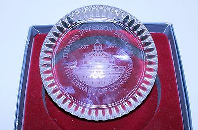Commemorative Library of Congress Glass Collectible Thomas Jefferson Building