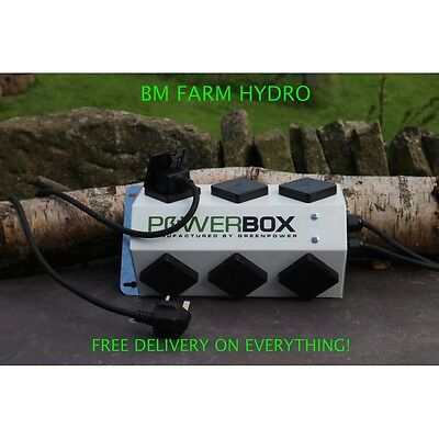 Power Box By Green Power 6 Gang 26 AMP Contactor Jco Hydroponics 600W Grow Room