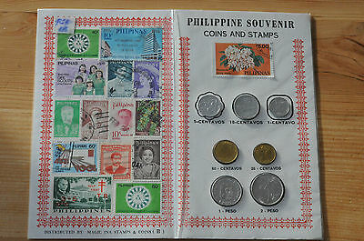 1980's -1990's Philippines, Stamps Coin and first day cover set in folder