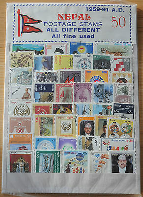 1959-1991 Nepal stamp set of 50 in presentation folder
