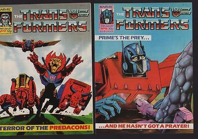 Marvel UK Transformers 1987  #96 #97  c1.522