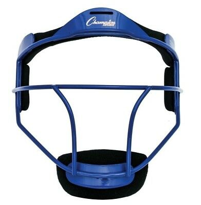 New Champion Sports FMABL Softball Adult Pitchers Fielders Mask Wide Vision Blue