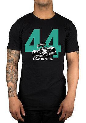 Lewis Hamilton 44 F1 Race Car T-Shirt World Champion Formula 1 Brit Silverstone