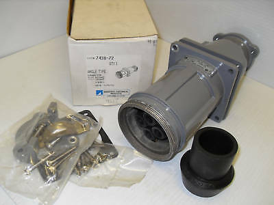 **NEW** T&B RUSSELLSTOLL 7438-72 100-Amp CONNECTOR 100A 3P 4W 600V THOMAS BETTS