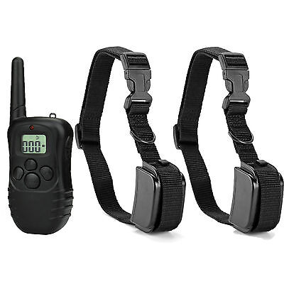 Rechargeable Waterproof Electric Shock Vibra Remote Dog Pet Safe Training Collar