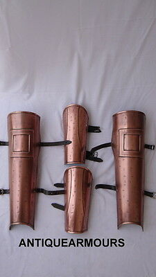 300 Greek SPARTAN LEG GUARD ARM GUARD SET GREAVES BRACES MOVIE HALLOWEEN