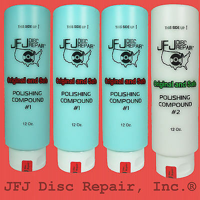 Three #1Blue & One #2 White 12oz JFJ Easy Pro Single Double Advanced Compound