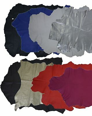 Genuine Real Leather Fabric Skin Soft Sheep Napa Leather Textile £4.50 per sq ft