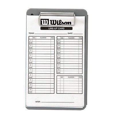 New 30 Pack Wilson Baseball Softball 3 Copy LINEUP CARDS Line Up & Box w/ Clip