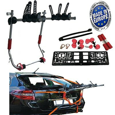 3 Bicycle Carrier Car Rack Bike Cycle Universal Fits Most Rear Mount Mountain