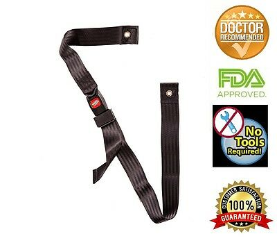 "Wheelchair Seat Belt up to 60"" Auto Style with Metal Buckle"
