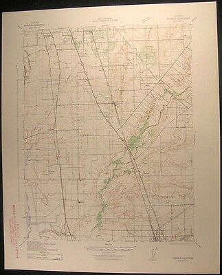 Franklin California Elk Grove Galt 1942 vintage USGS original Topo chart map