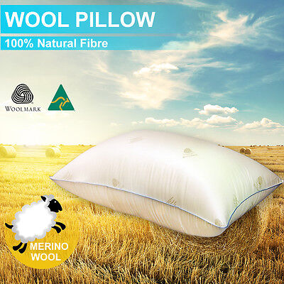 Feather/Down/Latex/Memory-Aus Made New Wool Pillow HealthGuard