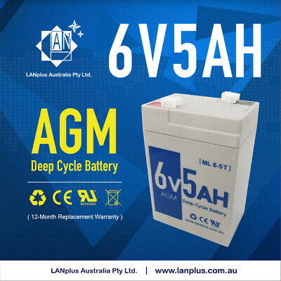 NEW 6V 5AH SLA battery 6 volt High Rate> 4AH 4.5AH same size Toy Electric Bike