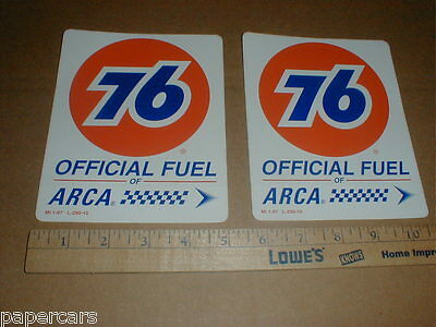 PAIR Union 76 Official Fuel ARCA vintage New contingency racing decal Stickers