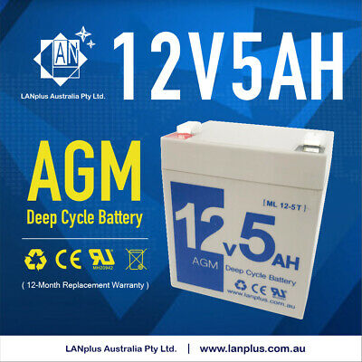 Brand New 12V 5AH AGM battery 12volt High Rate > 4.2ah 4.5ah Solar Alarm System
