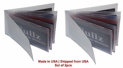 Plastic Wallet insert Set of 2 ID-Card Picture holder for mens 6Page MADE IN USA