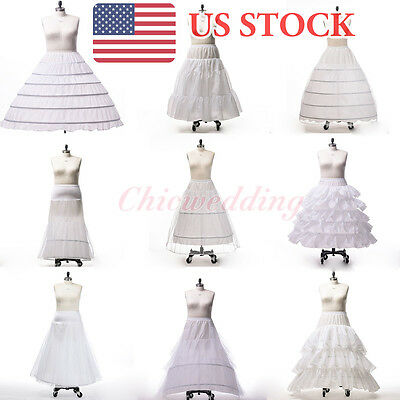 PLUS SIZE A-Line Ball Gown Mermaid Wedding Petticoat Crinoline Slips(US STOCK)