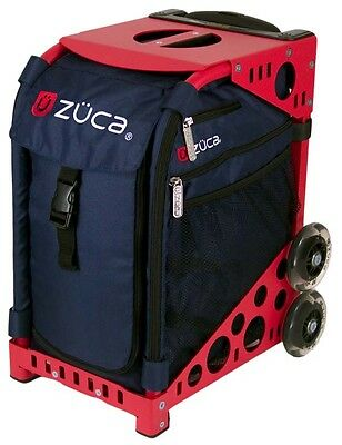 """Zuca """"Mignight - Navy"""" Insert Bag withRed Frame - Perfect School Bag!"""