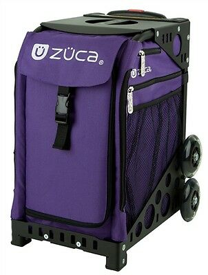 "Zuca ""Rebel - Purple"" Insert Bag with Black Frame - Perfect School Bag!"