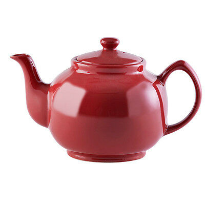Price & Kensington Brights Red Ceramic 10 Cup Teapot Gloss 1500ml 53fl oz NEW