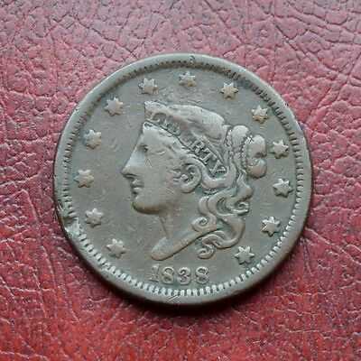 USA 1838 copper large cent