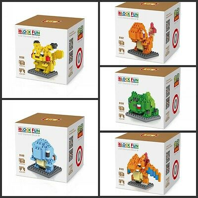 Pokemon Collection Series Nano Block Building Blocks Set Mini Blocks Toys Gift