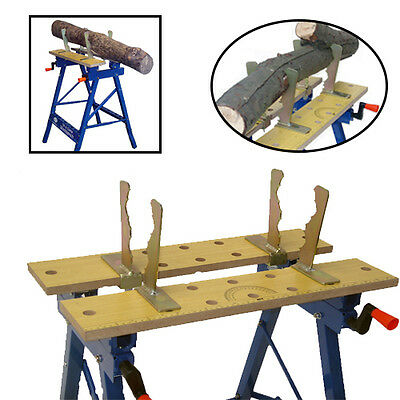 Log Holder Saw Horse Clamp Jaws Fits Workmate Work Bench Chainsaw Cutting