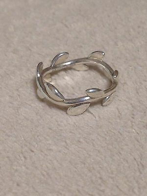 Excellent Authentic Tiffany & Co. Paloma Picasso Olive Leaf Ring Size 5