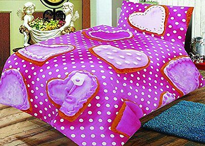Love2Sleep COT BED 120 X 150 COTTON RICH DUVET COVER SET – PINK COOKIES