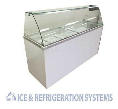 "Fricon 70"" Commercial 12 Flavor Ice Cream / Gelato Dipping Cabinet Freezer Ddc70"