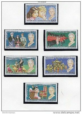 Central African Republic 1985 Queen Mother Collection to 500f Mint MNH