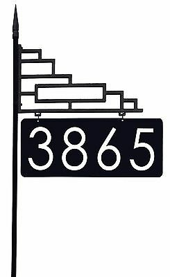 """Extra Large Contemporary Reflective Address Sign with 6"""" Bold 911 Numbers"""