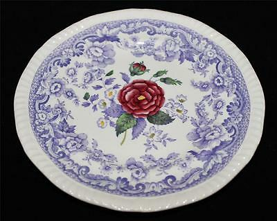 "Copeland Spode MAYFLOWER - Lavender w/Floral Center, 6 1/2""  Bread Plate"